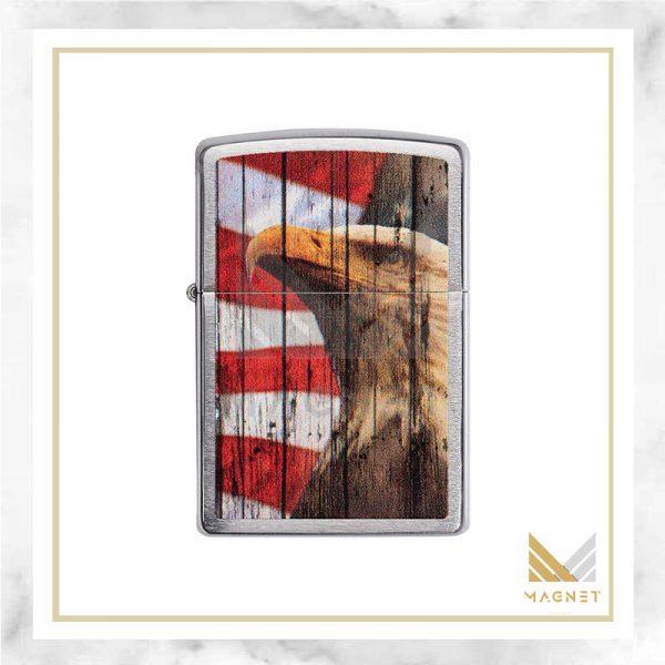 فندک زیپو طرح عقاب و پرچم کد 29508