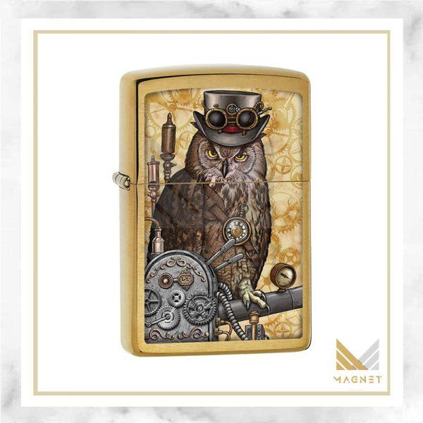 فندک زیپو کد 204B CI404578 STEAMPUNK OWL