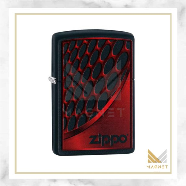 فندک زیپو کد 218 Ci405520 RED AND CHROME