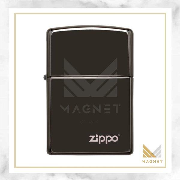 فندک زیپو کد 24756ZL EBONY WITH ZIPPO LOGO LASERE