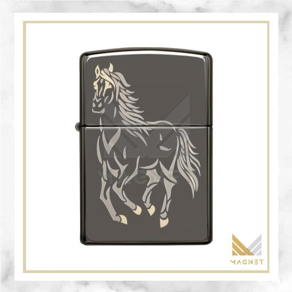 فندک زیپو کد 28645 150 RUNNING HORSE
