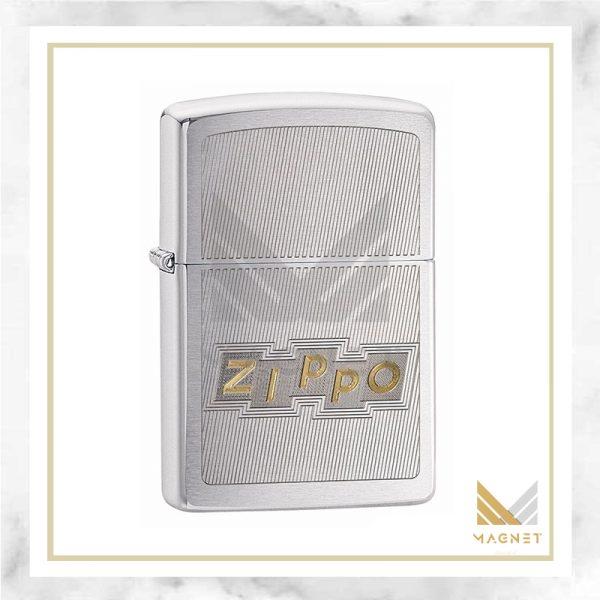 فندک زیپو کد 49204 PF20 ZIPPO BLOCK LETTERS DESIGN